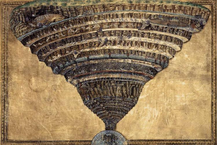 The Abyss of Hell, Sandro Botticelli,1480, WikiArt.org